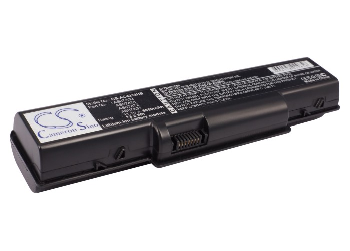 Cameron Sino baterie do notebooků pro ACER Aspire 2930-733G25Mn 11.1V Li-ion 6600mAh černá - neoriginální