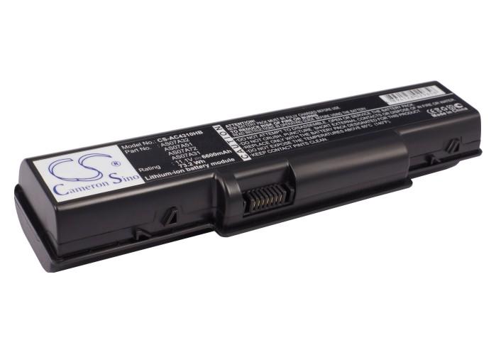Cameron Sino baterie do notebooků pro ACER Aspire 5536G 11.1V Li-ion 6600mAh černá - neoriginální