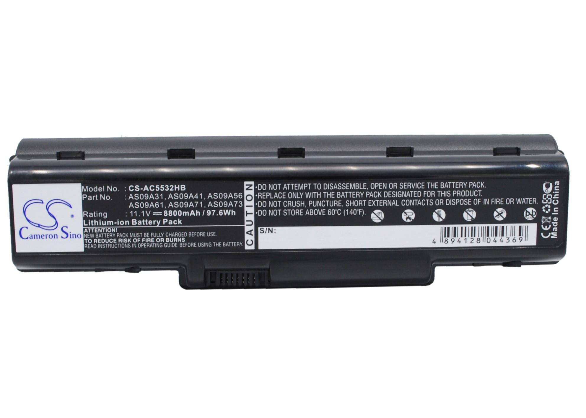 Cameron Sino baterie do notebooků pro ACER Aspire 5517-5535 11.1V Li-ion 8800mAh černá - neoriginální