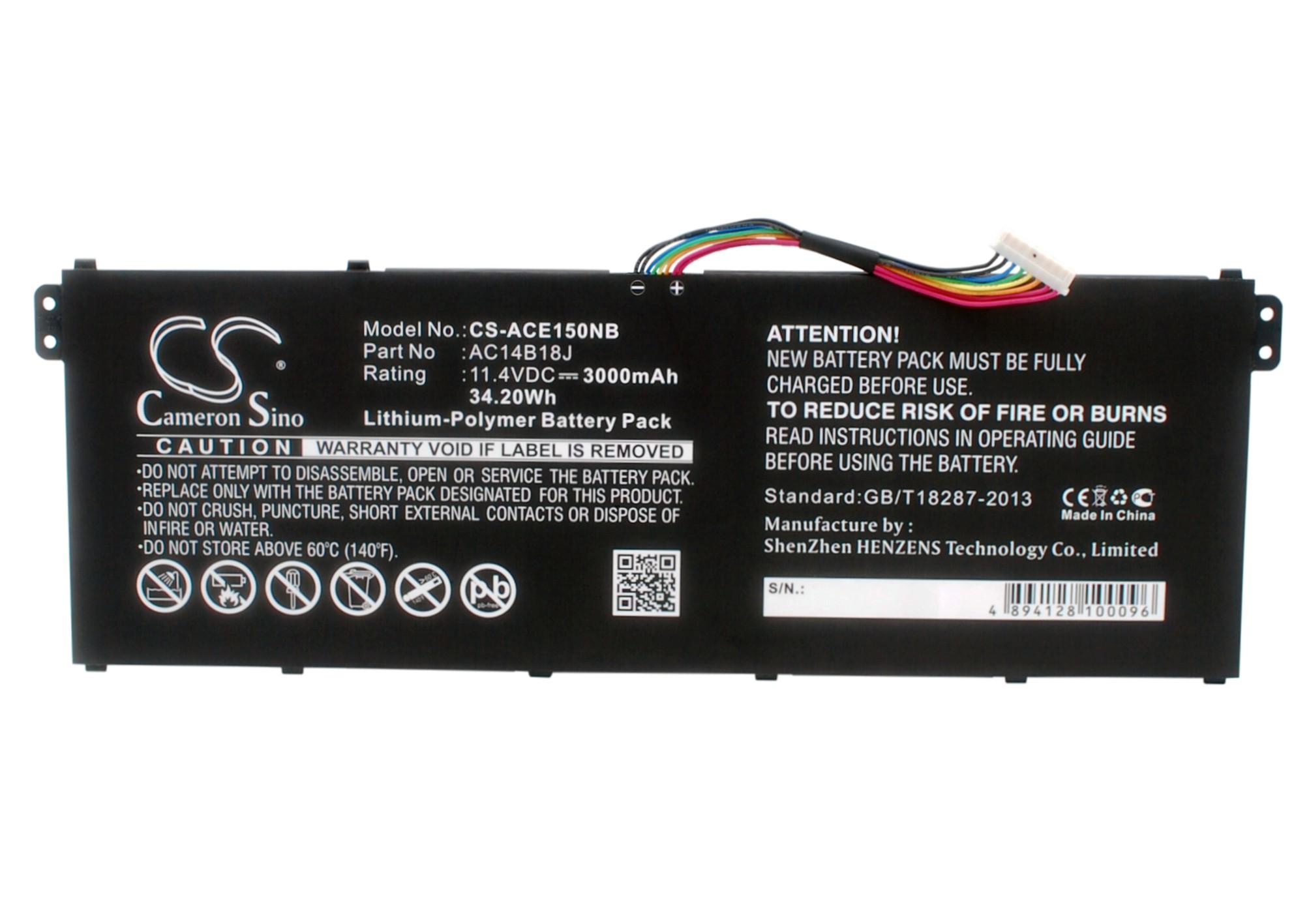 Cameron Sino baterie do notebooků pro ACER E5-571-563B 11.4V Li-Polymer 3000mAh černá - neoriginální