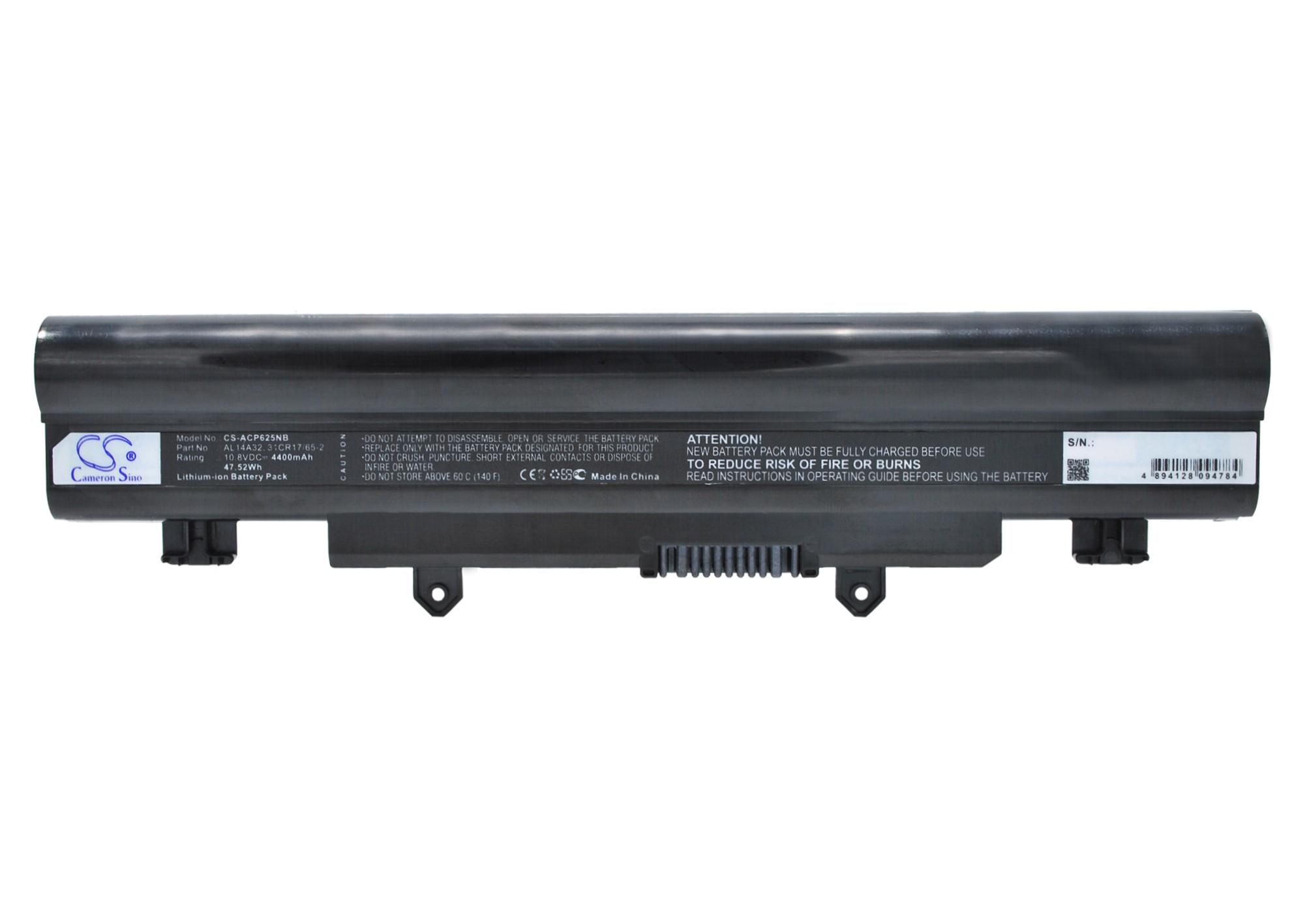 Cameron Sino baterie do notebooků pro ACER Aspire E5-521 10.8V Li-ion 4400mAh černá - neoriginální