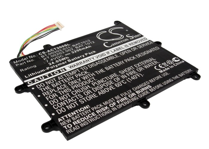 Cameron Sino baterie do tabletů pro ACER Iconia Tab A200 7.4V Li-Polymer 3250mAh černá - neoriginální