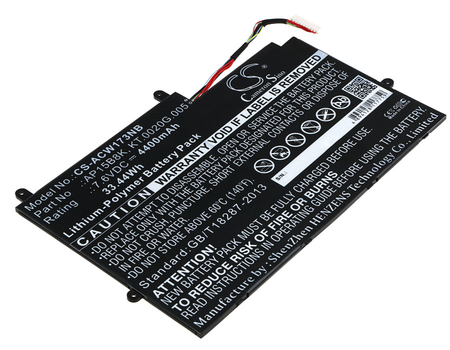 Cameron Sino baterie do notebooků pro ACER Aspire Switch 11 SW5-173 7.6V Li-Polymer 4400mAh černá - neoriginální