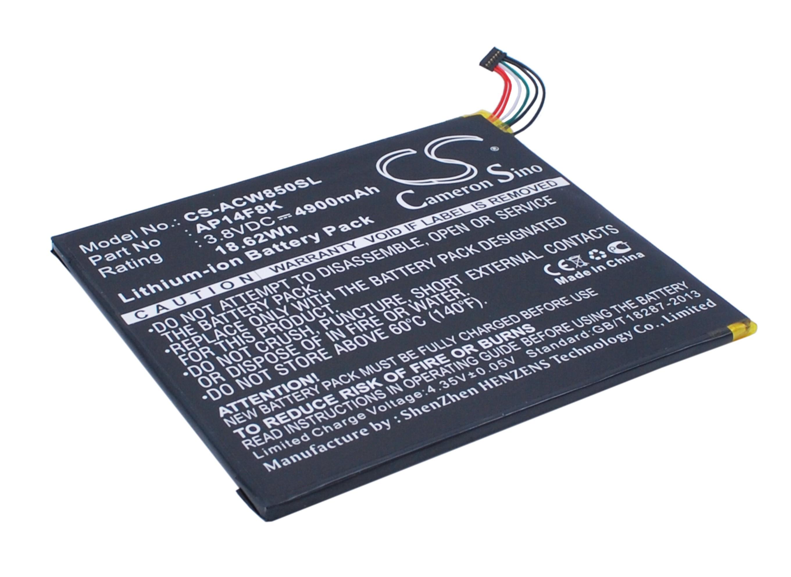 Cameron Sino baterie do tabletů pro ACER Iconia Tab A1-850 3.8V Li-Polymer 4900mAh černá - neoriginální