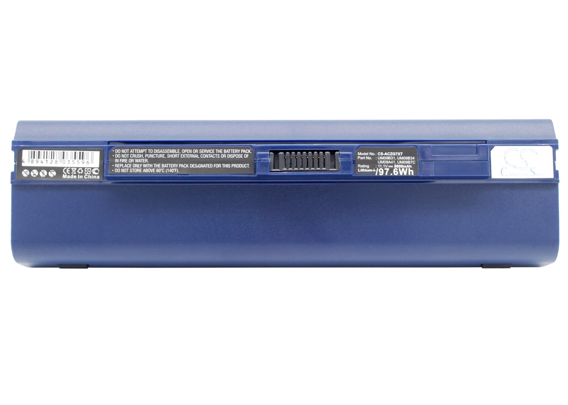 Cameron Sino baterie do notebooků pro ACER Aspire One 751 11.1V Li-ion 8800mAh modrá - neoriginální