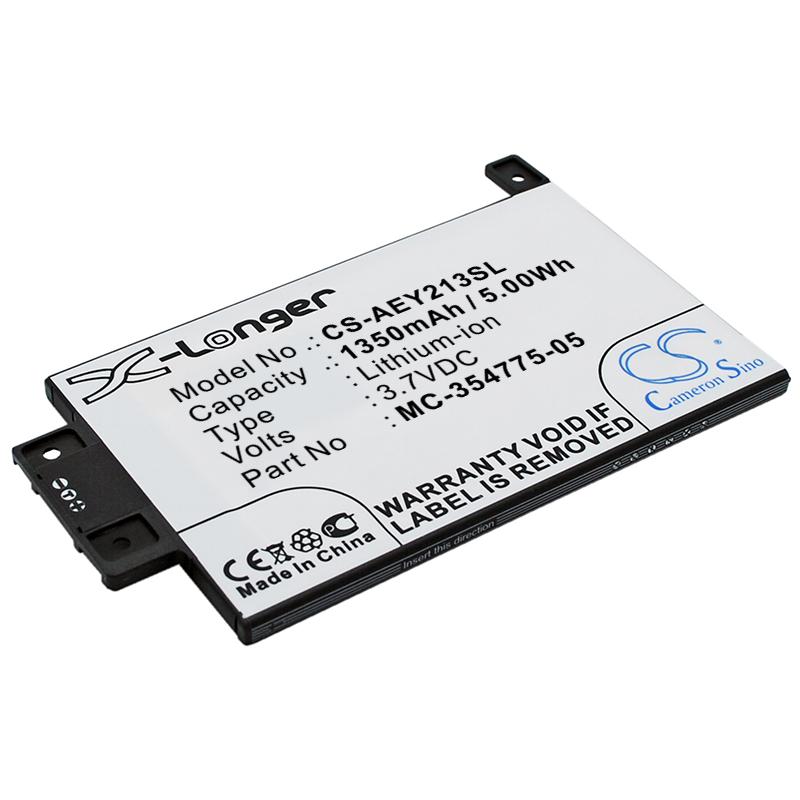 """Cameron Sino baterie do elektronických čteček knih pro AMAZON Kindle Touch 3G 6"""" 2013 3.7V Li-ion 1600mAh černá - neoriginální"""
