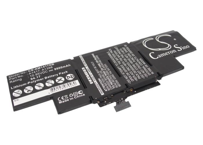 Cameron Sino baterie do notebooků pro APPLE MacBook Pro Core i7 2.7GHz 15 inch Retina Early 2013 10.95V Li-Polymer 8600mAh černá - neoriginální