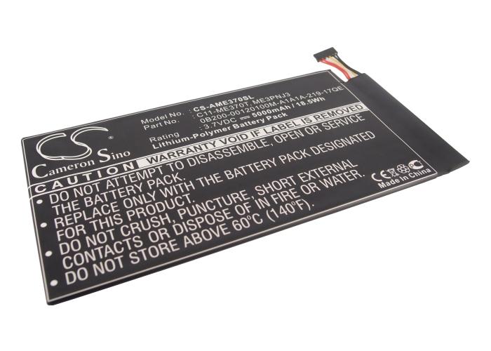 Cameron Sino baterie do tabletů pro ASUS MeMO Pad ME301T 16GB 3.7V Li-Polymer 5000mAh černá - neoriginální