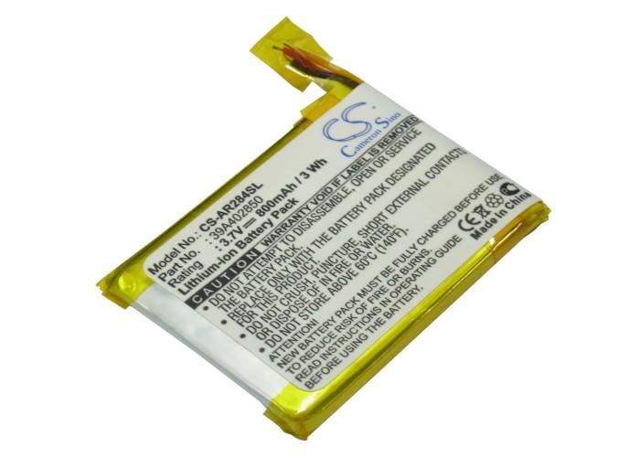 Cameron Sino baterie do mp3 přehrávačů pro ARCHOS 28 Internet Tablet 3.7V Li-Polymer 800mAh černá - neoriginální