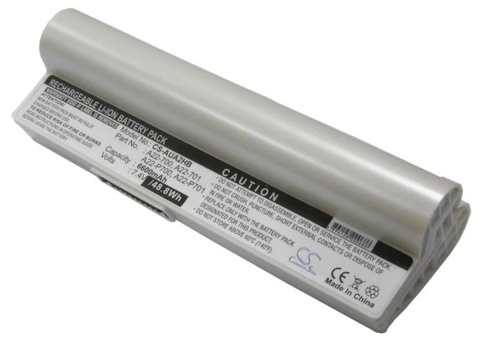 Cameron Sino baterie do notebooků pro ASUS Eee PC 2G Linux 7.4V Li-ion 6600mAh bílá - neoriginální