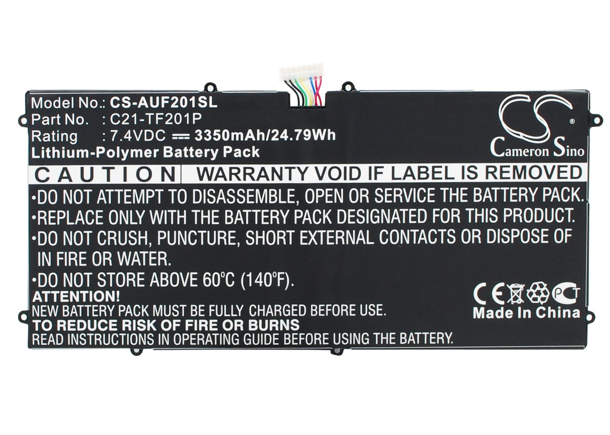 Cameron Sino baterie do tabletů pro ASUS Transformer Prime TF201 7.4V Li-Polymer 3350mAh černá - neoriginální