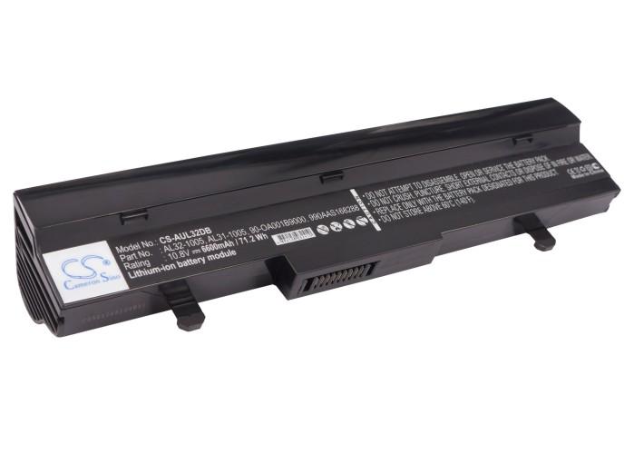 Cameron Sino baterie do netbooků pro ASUS Eee PC 1005PE-MU17-BK 10.8V Li-ion 6600mAh černá - neoriginální