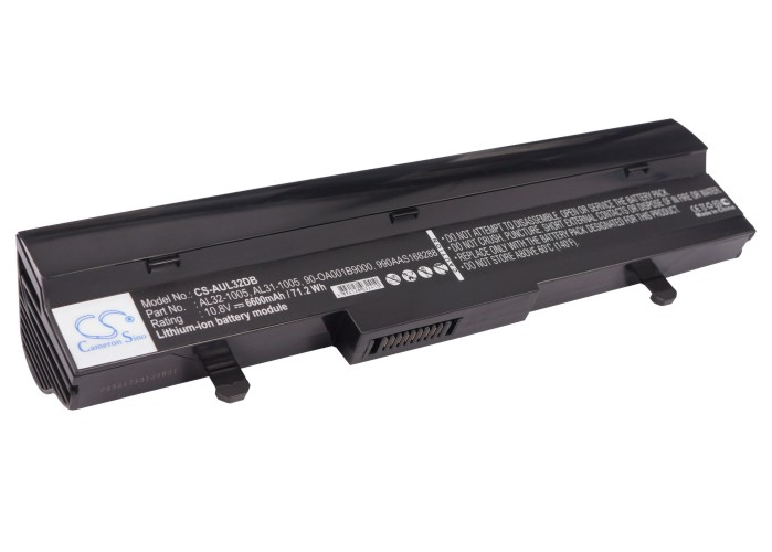 Cameron Sino baterie do netbooků pro ASUS Eee PC 1005PE-PU17-BK 10.8V Li-ion 6600mAh černá - neoriginální