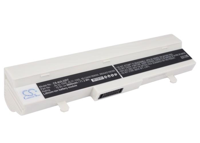 Cameron Sino baterie do netbooků pro ASUS Eee PC 1005PE-MU27-BK 10.8V Li-ion 6600mAh bílá - neoriginální