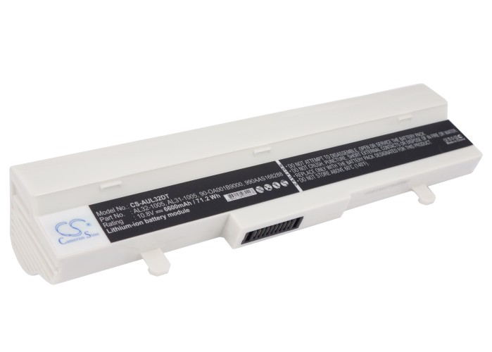 Cameron Sino baterie do netbooků pro ASUS Eee PC 1005PE-MU27-PI 10.8V Li-ion 6600mAh bílá - neoriginální