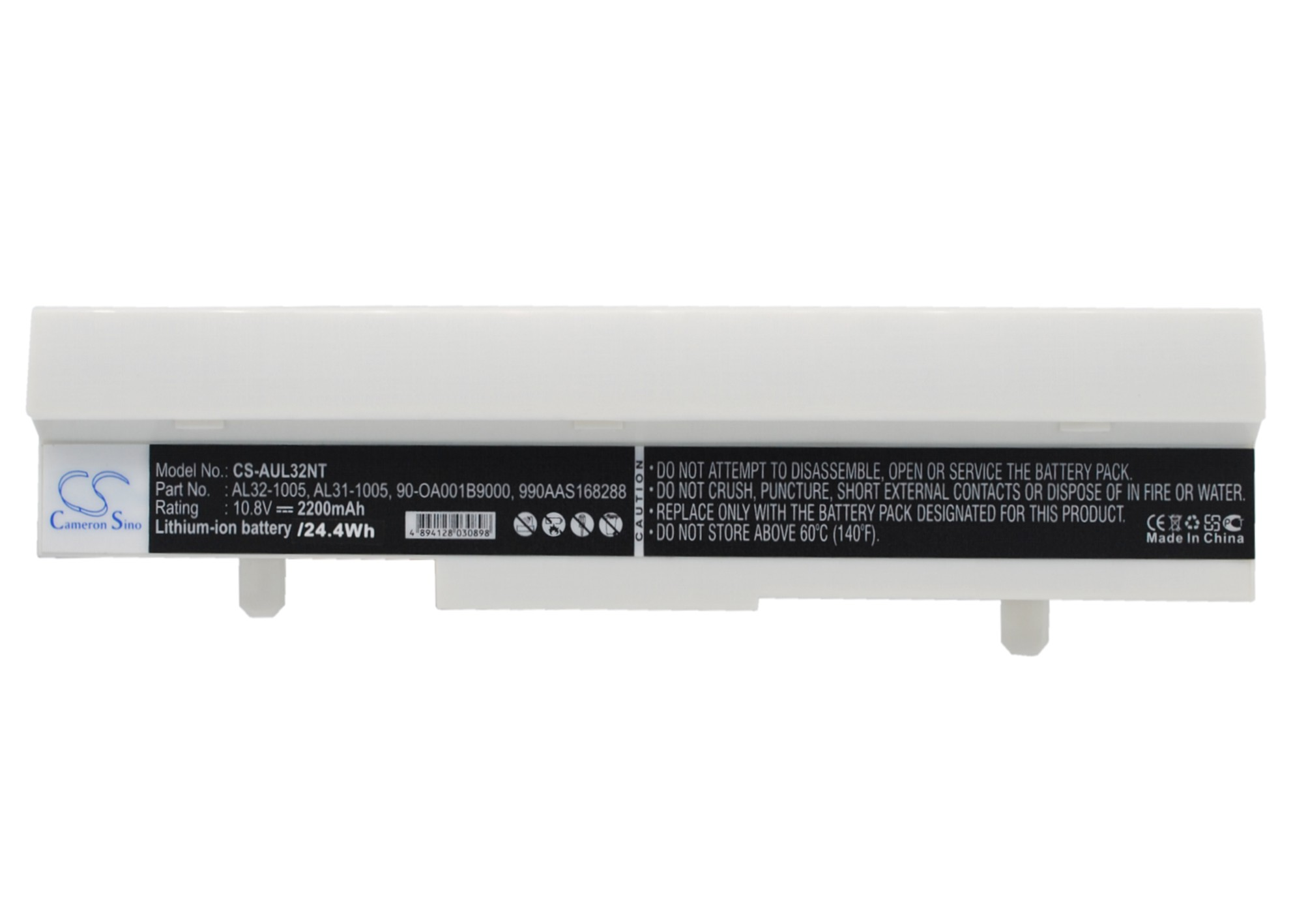 Cameron Sino baterie do netbooků pro ASUS Eee PC 1001HA 10.8V Li-ion 2200mAh bílá - neoriginální