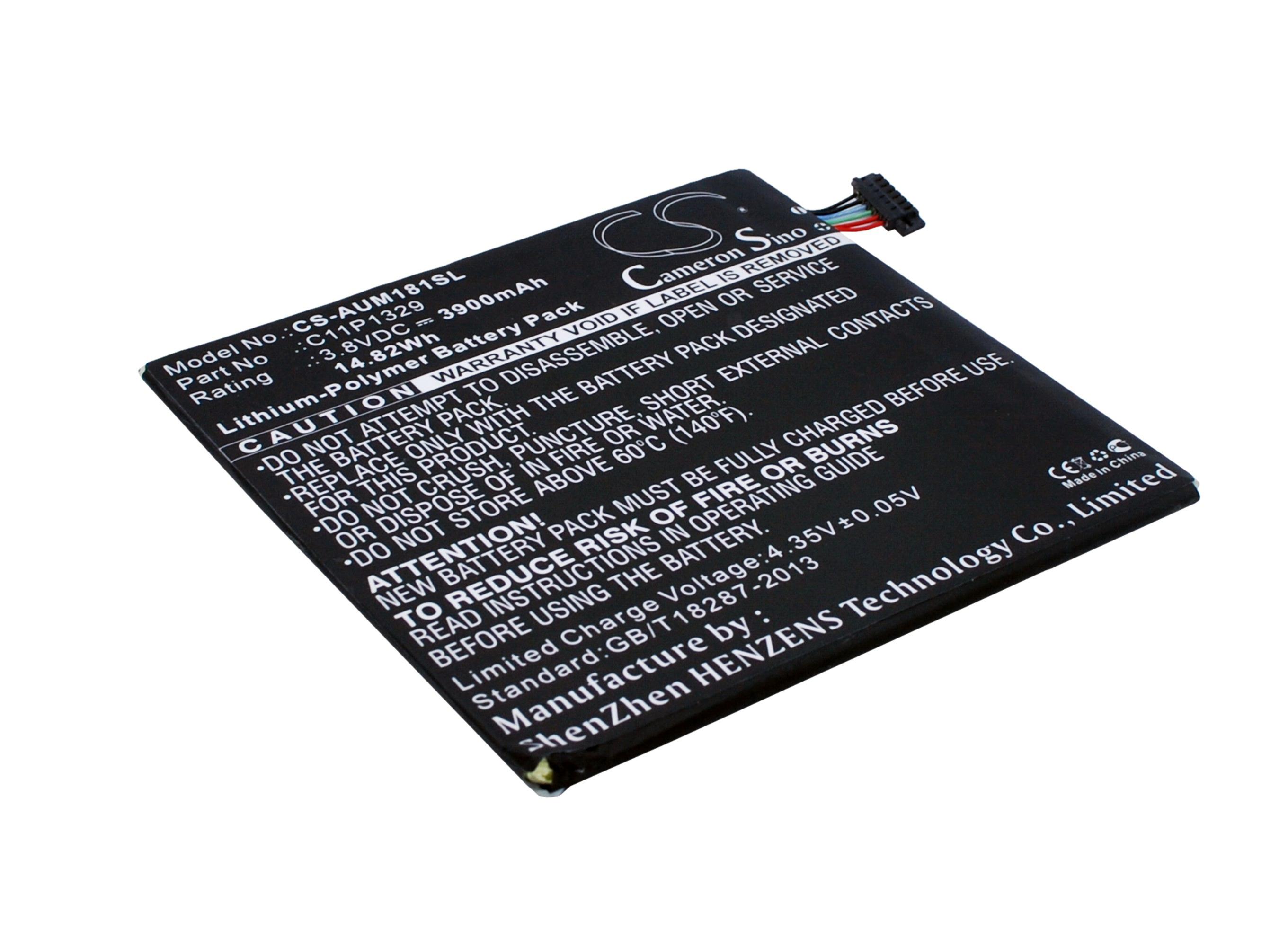 Cameron Sino baterie do tabletů pro ASUS MeMO Pad 8 ME181A 3.8V Li-Polymer 3900mAh černá - neoriginální