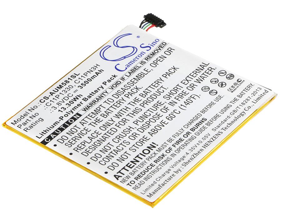 Cameron Sino baterie do tabletů pro ASUS MeMO Pad 8 ME181CX 3.8V Li-Polymer 3500mAh černá - neoriginální