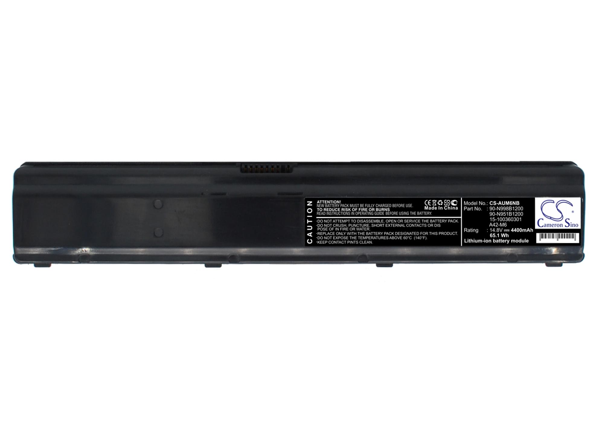 Cameron Sino baterie do notebooků pro ASUS M6 14.8V Li-ion 4400mAh černá - neoriginální
