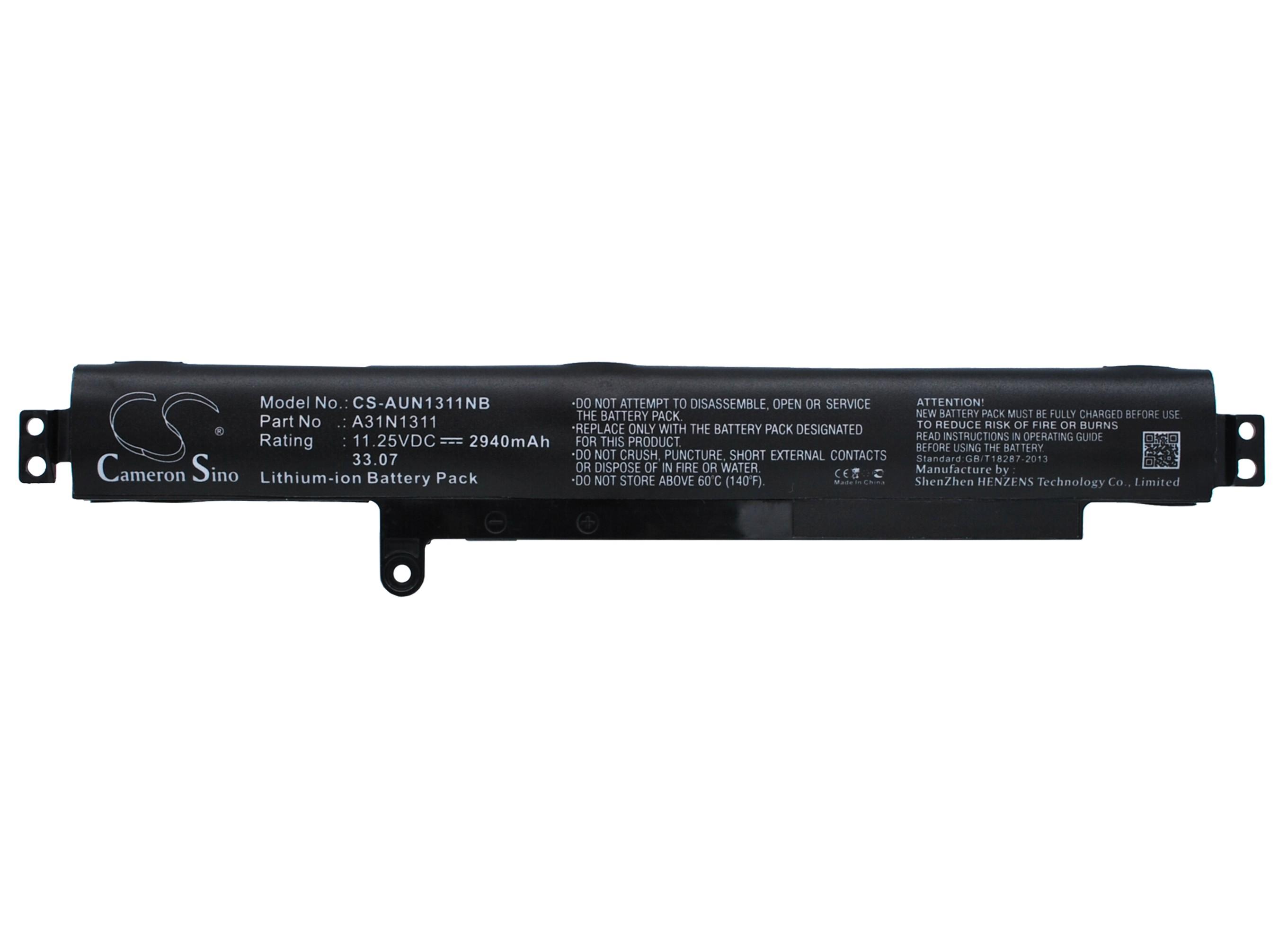 Cameron Sino baterie do notebooků pro ASUS X102BA-BH41T 11.25V Li-ion 2940mAh černá - neoriginální
