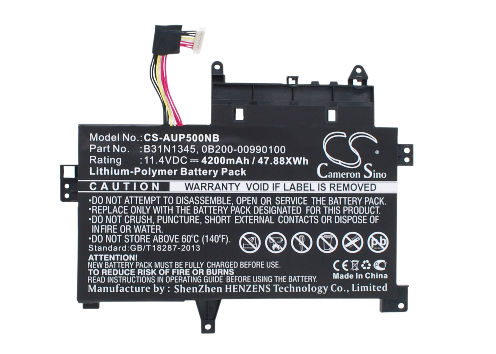 Cameron Sino baterie do notebooků pro ASUS Transformer Book Flip TP500LB-DS71T-CA 11.4V Li-Polymer 4200mAh černá - neoriginální