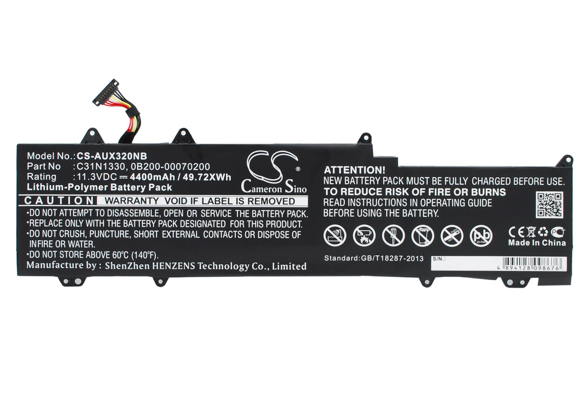 Cameron Sino baterie do notebooků pro ASUS Zenbook UX32LN-R4072H 11.3V Li-Polymer 4400mAh černá - neoriginální