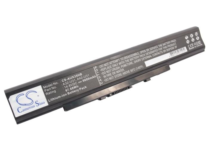 Cameron Sino baterie do notebooků pro ASUS U41SV 14.8V Li-ion 6600mAh černá - neoriginální