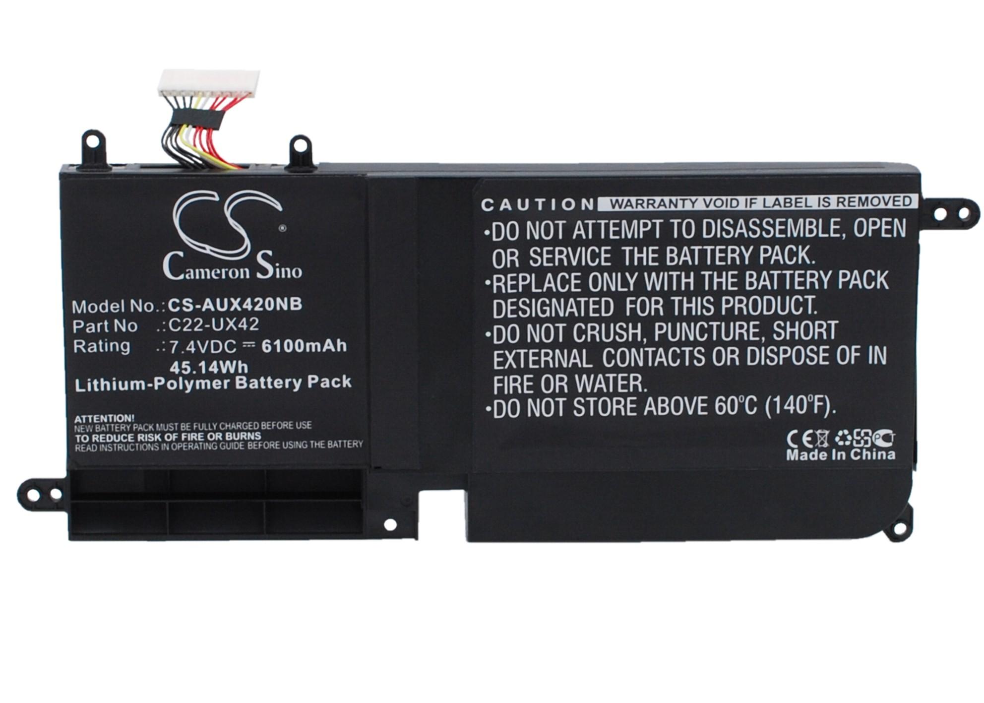 Cameron Sino baterie do notebooků pro ASUS Zenbook UX42VS 7.4V Li-Polymer 6100mAh černá - neoriginální