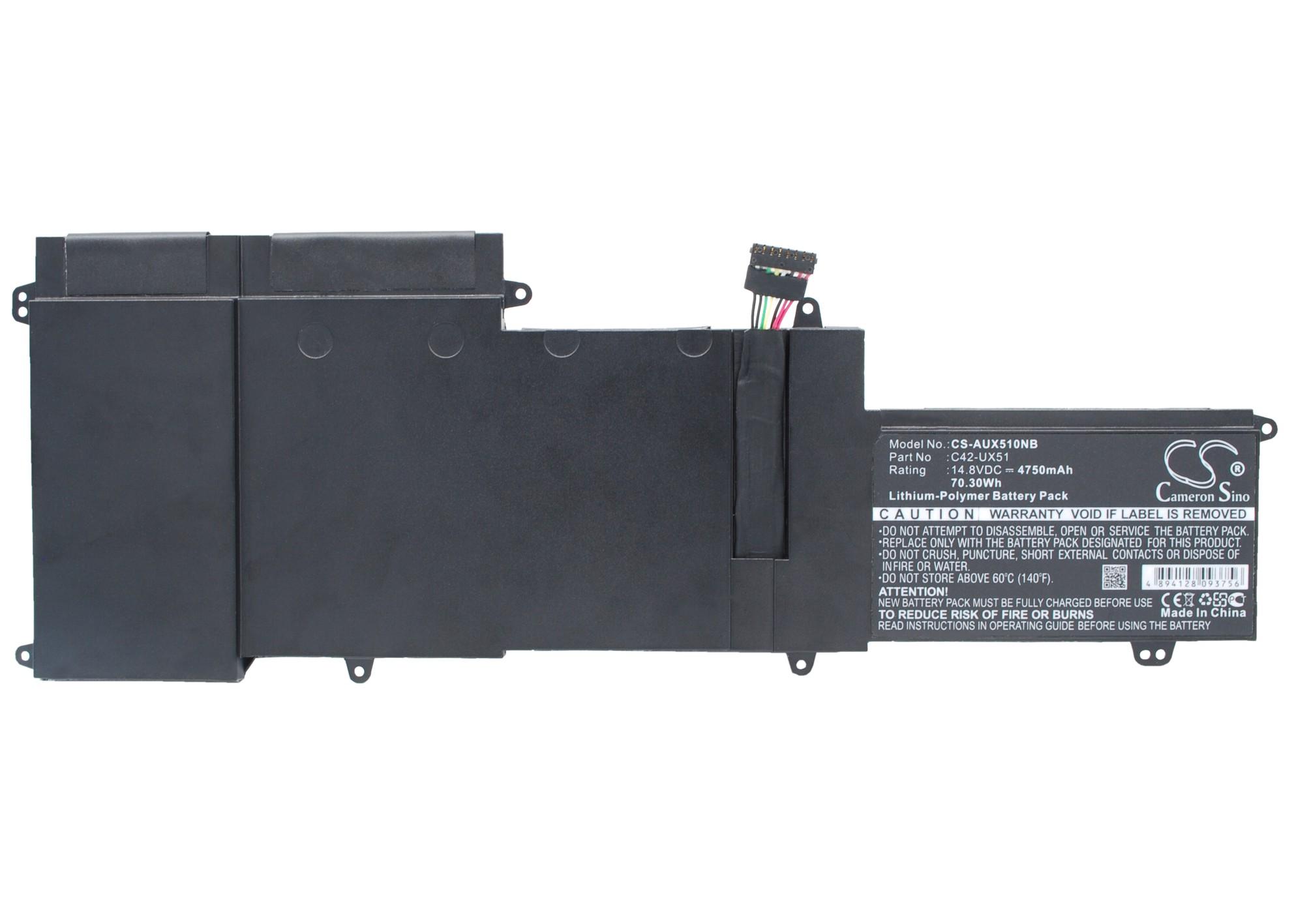 Cameron Sino baterie do notebooků pro ASUS ZenBook UX51VZ-CM042P 14.8V Li-Polymer 4750mAh černá - neoriginální