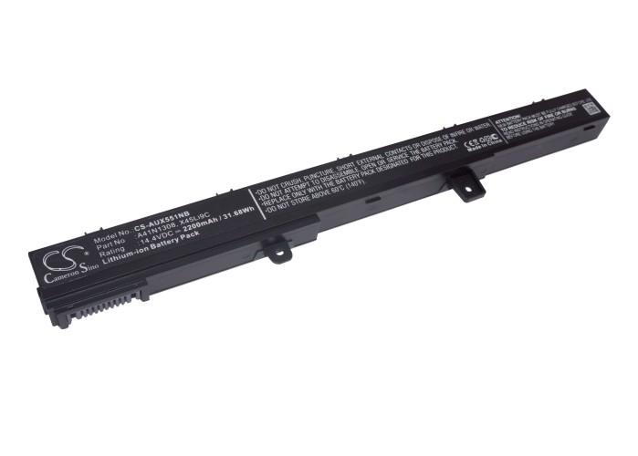Cameron Sino baterie do notebooků pro ASUS X551CA-SX024H 14.4V Li-ion 2200mAh černá - neoriginální