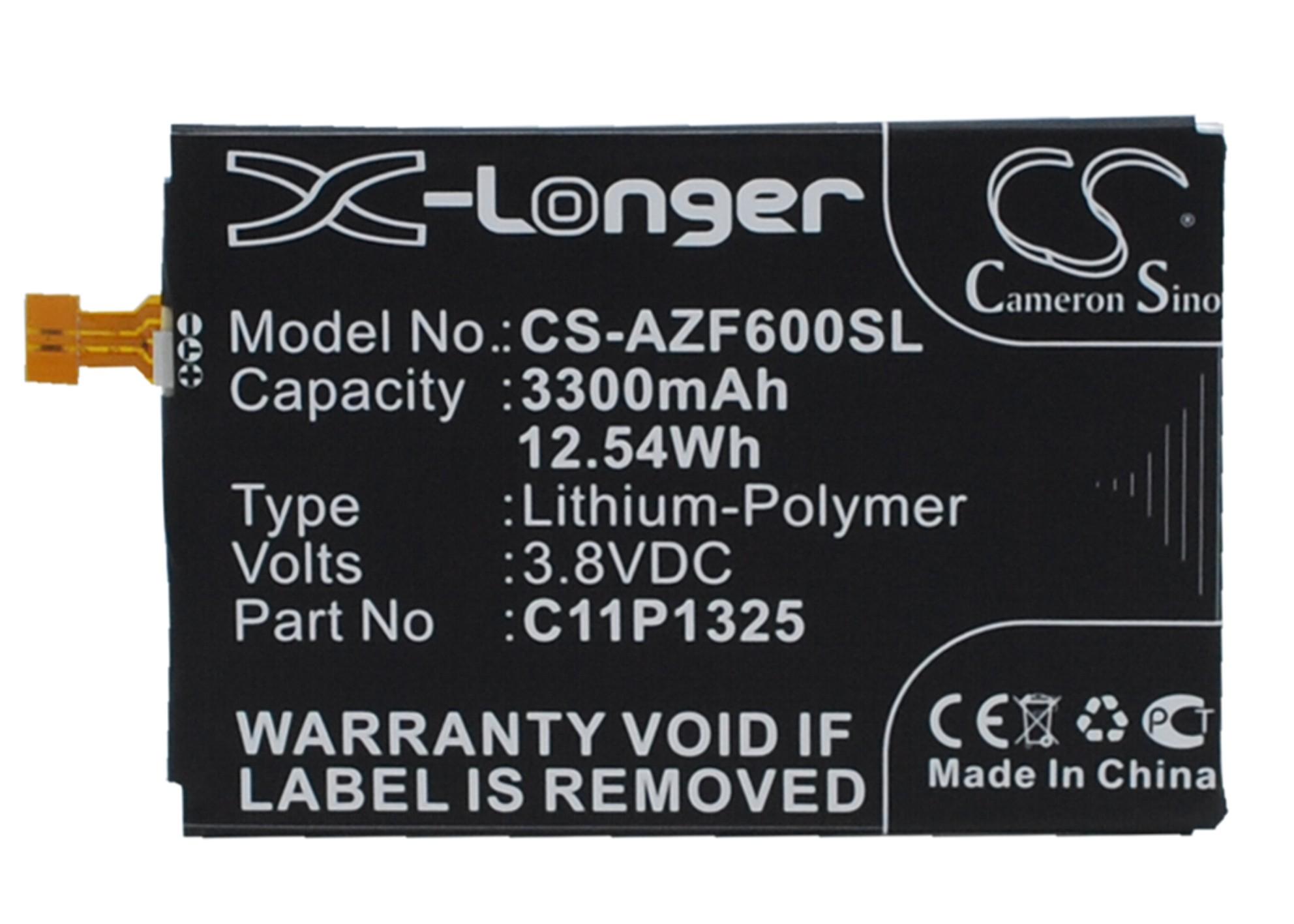 Cameron Sino baterie do mobilů pro ASUS A600CG 3.8V Li-Polymer 3300mAh černá - neoriginální