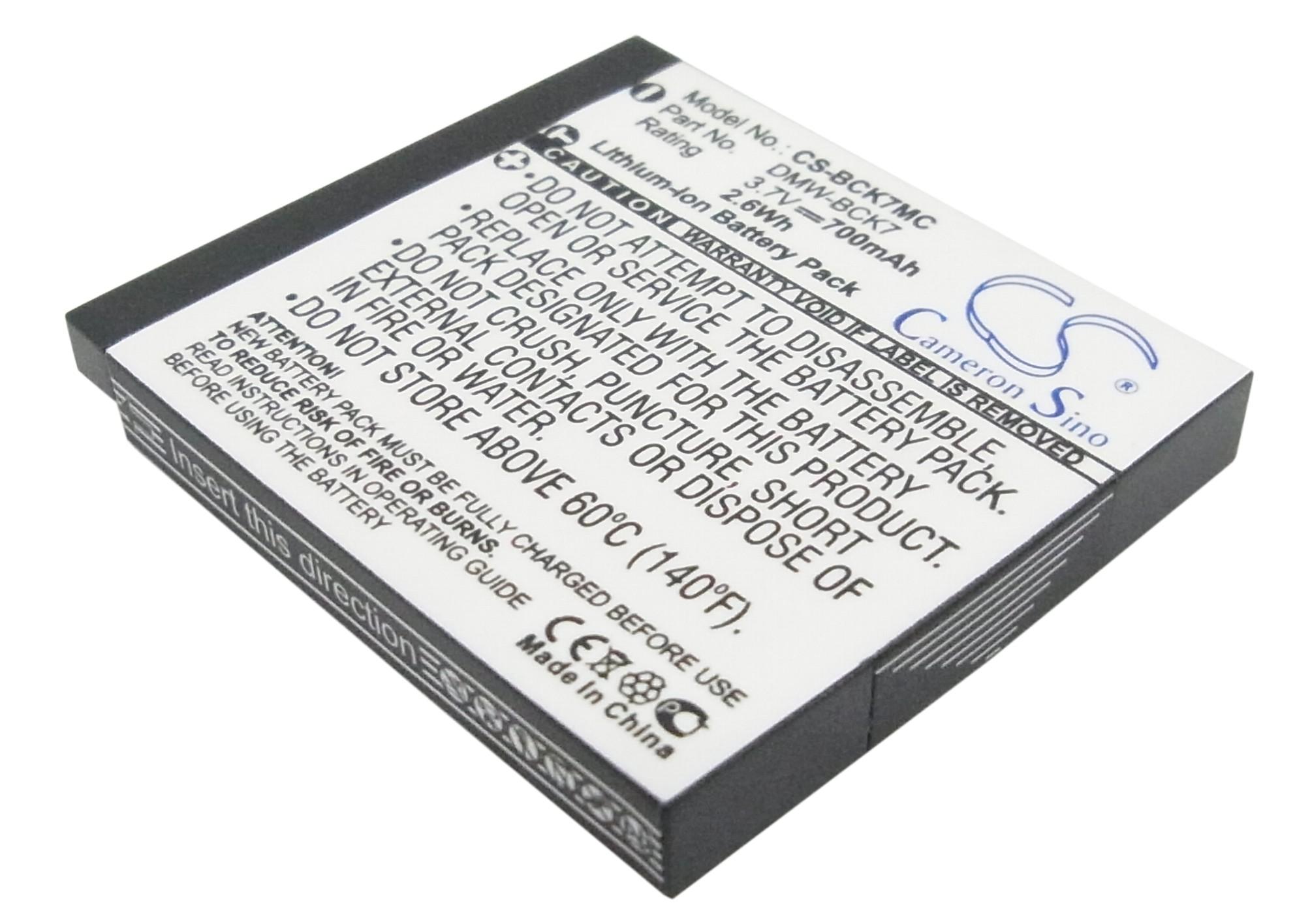 Cameron Sino baterie do kamer a fotoaparátů pro PANASONIC Lumix DMC-FS35 3.7V Li-ion 700mAh černá - neoriginální