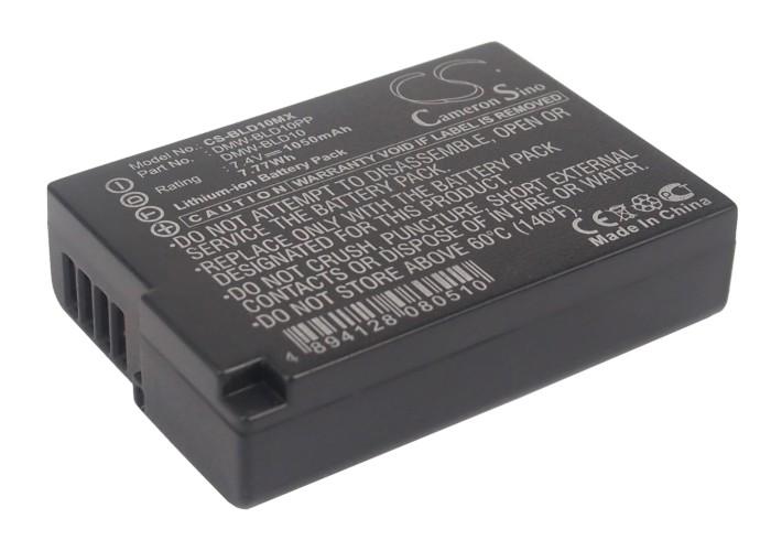 Cameron Sino baterie do kamer a fotoaparátů pro PANASONIC Lumix DMC-GX1 7.4V Li-ion 1050mAh černá - neoriginální