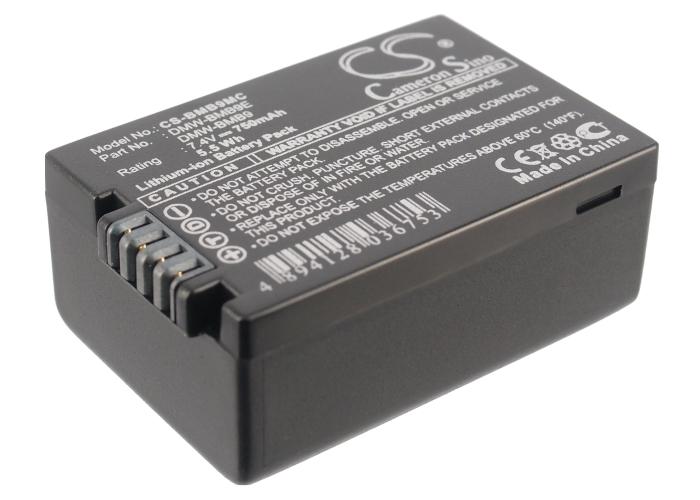 Cameron Sino baterie do kamer a fotoaparátů pro PANASONIC Lumix DMC-FZ48 7.4V Li-ion 750mAh černá - neoriginální
