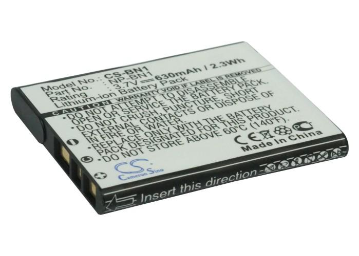 Cameron Sino baterie do kamer a fotoaparátů pro SONY Cyber-shot DSC-W570 3.7V Li-ion 630mAh černá - neoriginální