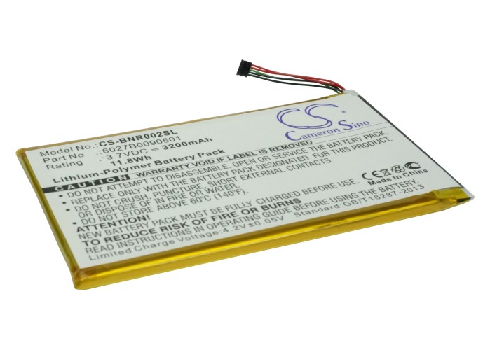 Cameron Sino baterie do elektronických čteček knih pro BARNES & NOBLE Nook Tablet 3.7V Li-Polymer 3200mAh černá - neoriginální