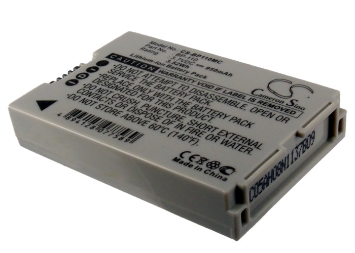 Cameron Sino baterie do kamer a fotoaparátů pro CANON Vixia HF R200 3.7V Li-ion 950mAh šedá - neoriginální