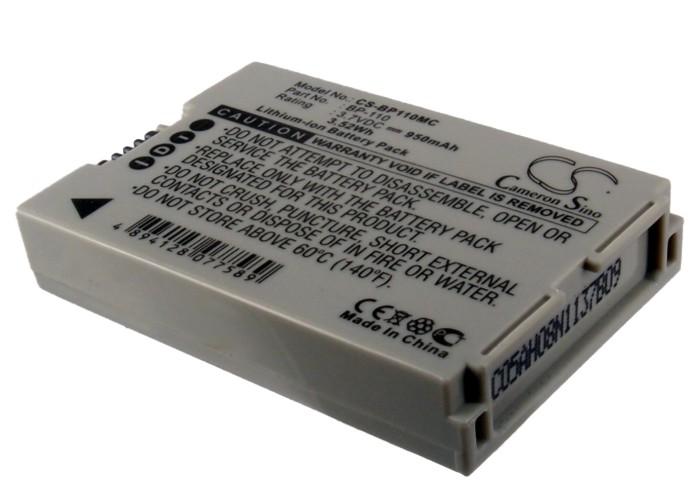 Cameron Sino baterie do kamer a fotoaparátů pro CANON Vixia HF R21 3.7V Li-ion 950mAh šedá - neoriginální