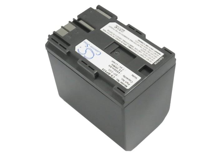 Cameron Sino baterie do kamer a fotoaparátů pro CANON MVX2i 7.4V Li-ion 4500mAh tmavě šedá - neoriginální
