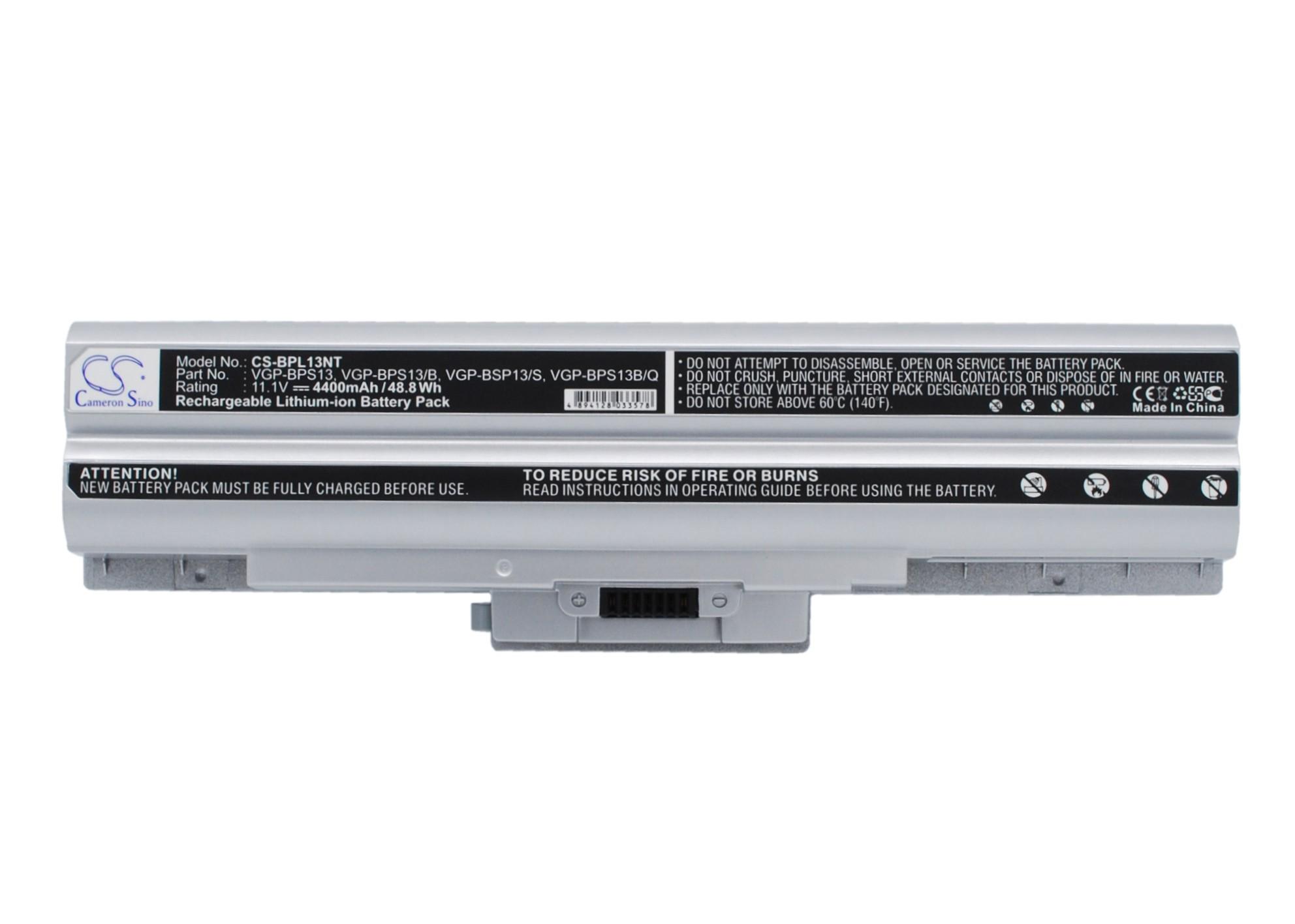 Cameron Sino baterie do notebooků pro SONY VAIO VGN-SR19VN 11.1V Li-ion 4400mAh stříbrná - neoriginální
