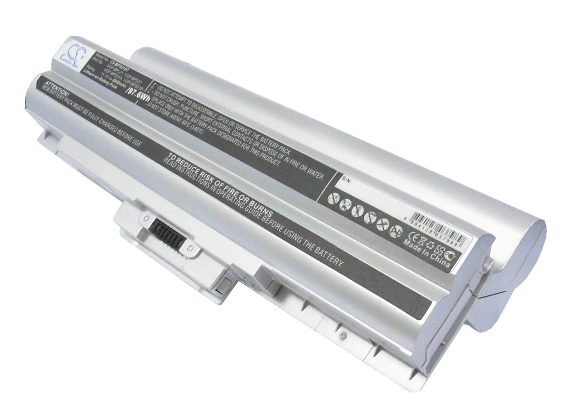 Cameron Sino baterie do notebooků pro SONY VAIO VGN-NW21MF 11.1V Li-ion 8800mAh stříbrná - neoriginální