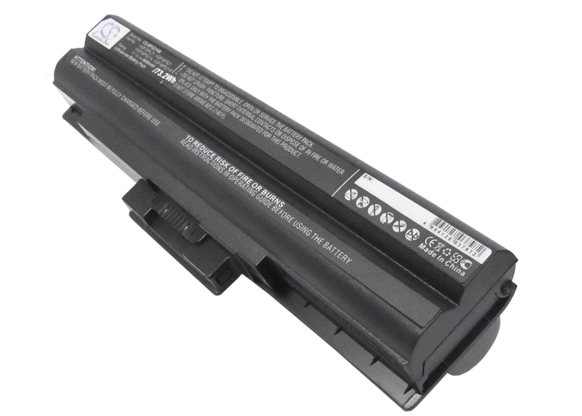 Cameron Sino baterie do notebooků pro SONY VAIO VGN-SR51MF 11.1V Li-ion 6600mAh černá - neoriginální