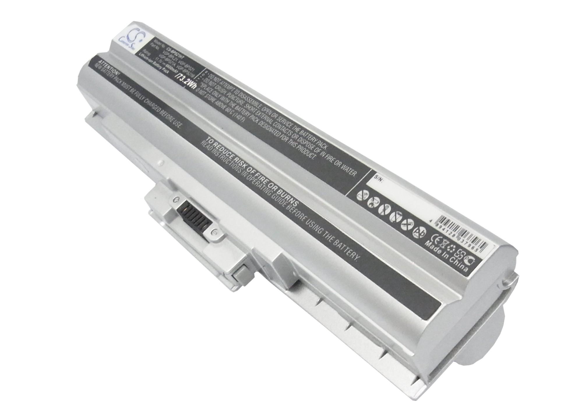 Cameron Sino baterie do notebooků pro SONY VAIO VPCF11Z1E 11.1V Li-ion 6600mAh stříbrná - neoriginální