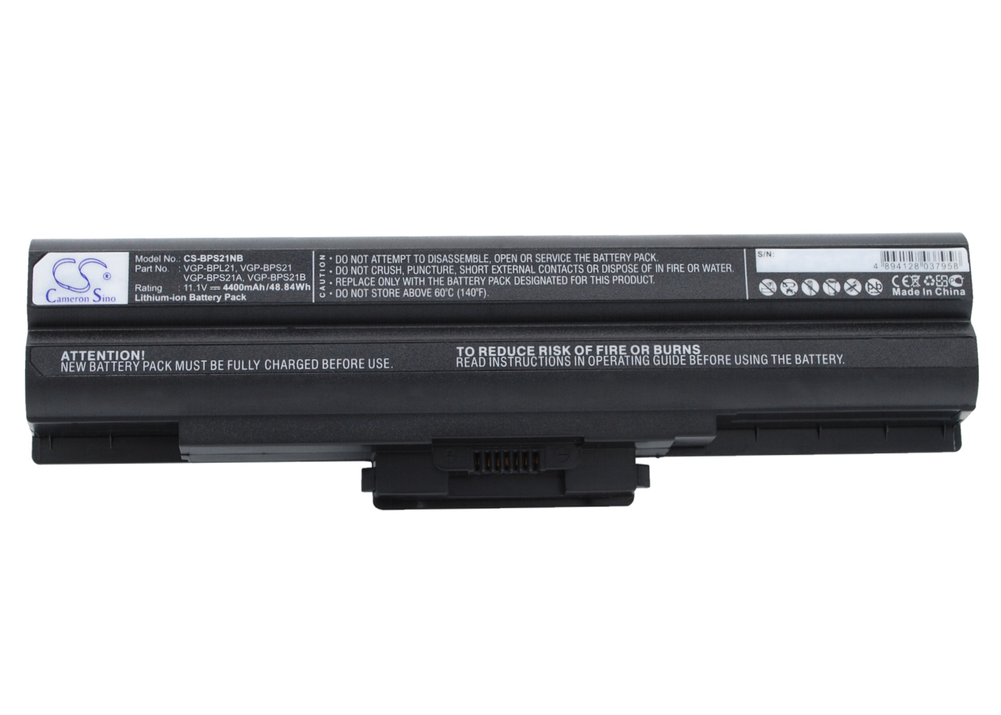 Cameron Sino baterie do notebooků pro SONY VAIO SVE11126CA 11.1V Li-ion 4400mAh černá - neoriginální