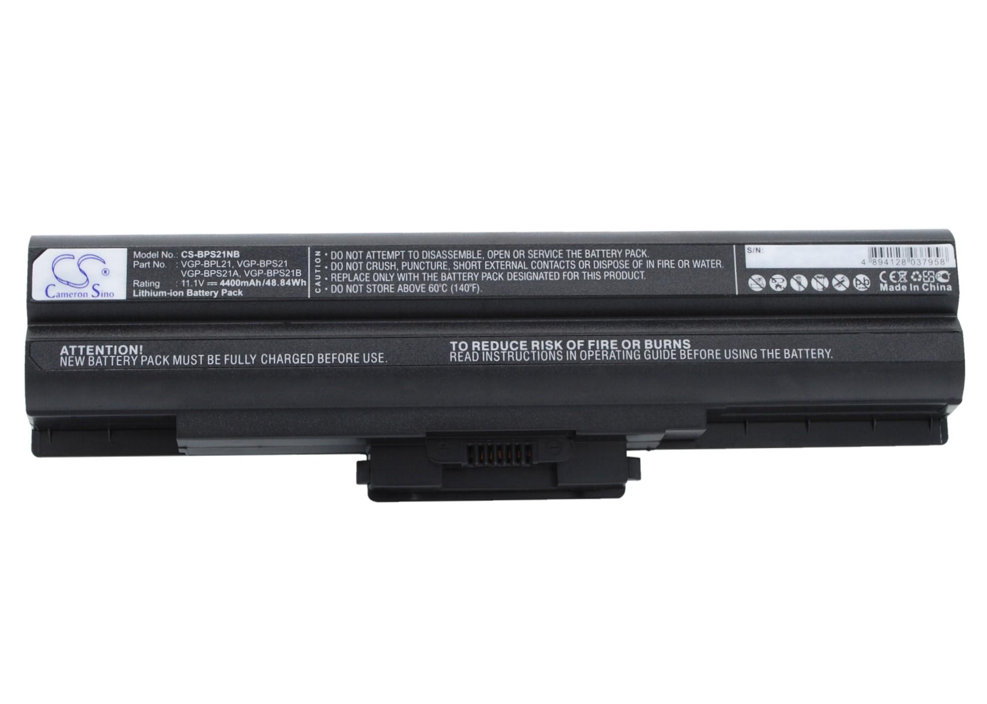 Cameron Sino baterie do notebooků pro SONY VAIO VGN-SR51MF 11.1V Li-ion 4400mAh černá - neoriginální