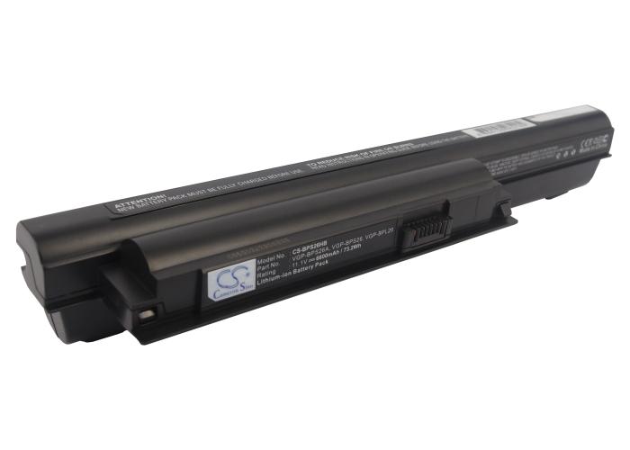 Cameron Sino baterie do notebooků pro SONY VAIO VPC-EH1E1E 11.1V Li-ion 6600mAh černá - neoriginální