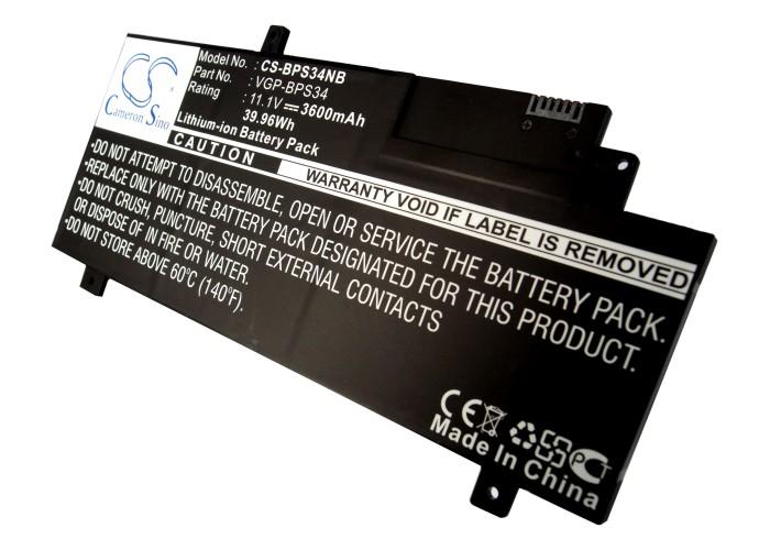 Cameron Sino baterie do notebooků pro SONY VAIO Fit 15 11.1V Li-ion 3600mAh černá - neoriginální