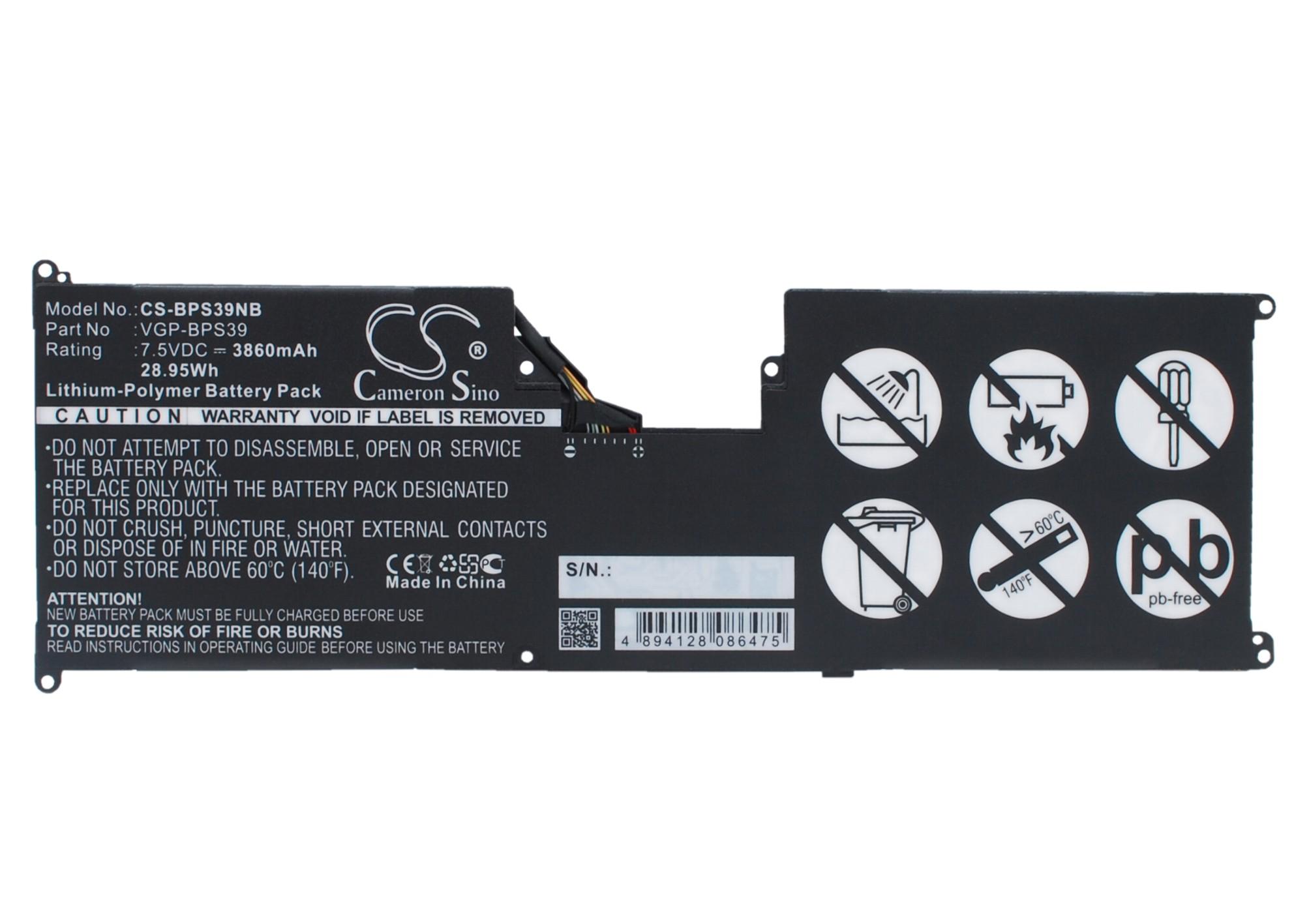 Cameron Sino baterie do notebooků pro SONY VAIO Tap 11 7.5V Li-Polymer 3860mAh černá - neoriginální