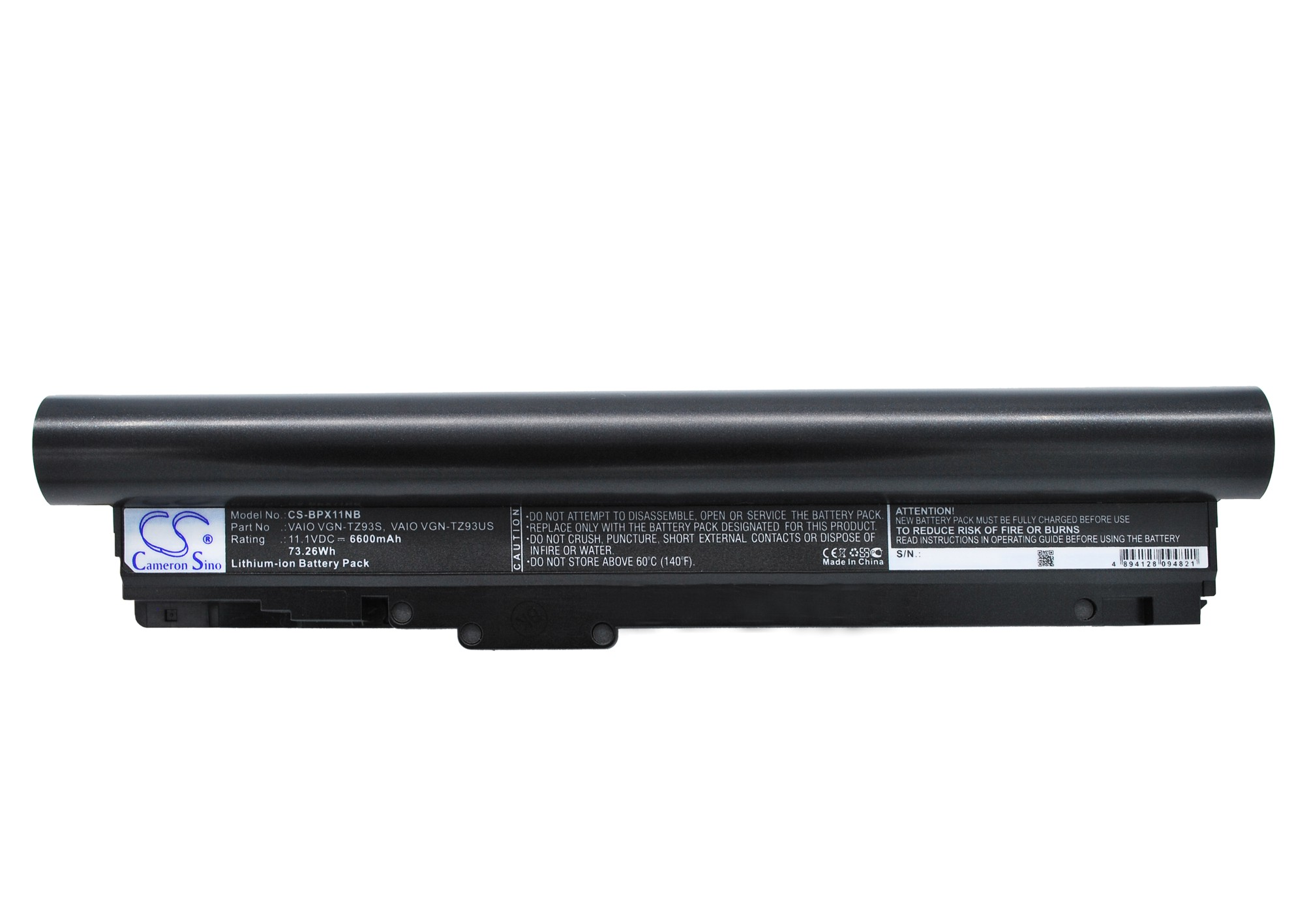 Cameron Sino baterie do notebooků pro SONY VAIO VGN-TZ11XN/B 11.1V Li-ion 6600mAh černá - neoriginální