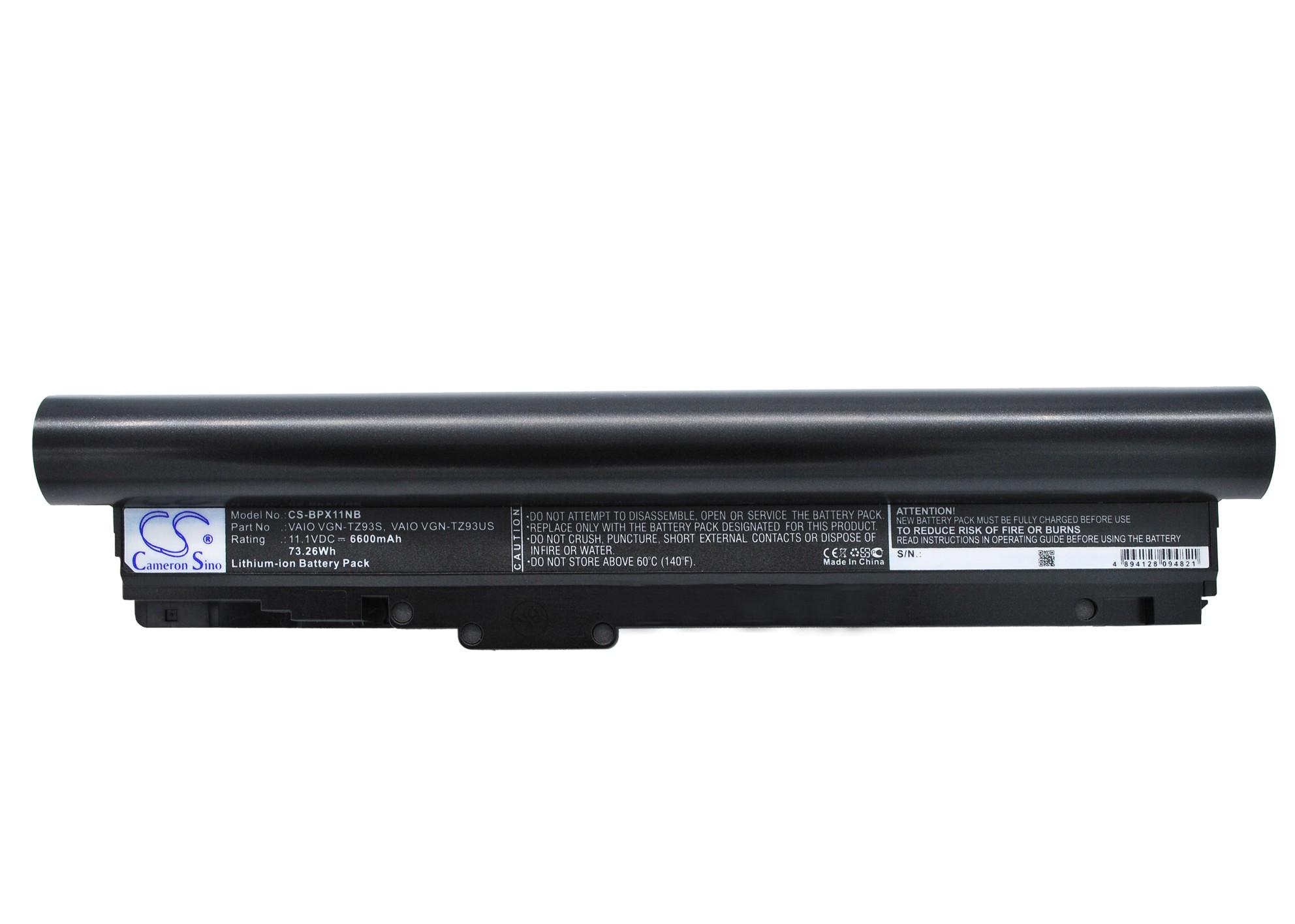 Cameron Sino baterie do notebooků pro SONY VAIO VGN-TZ21WN/B 11.1V Li-ion 6600mAh černá - neoriginální